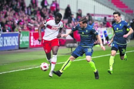 FC Energie gegen SG Sonnenhof Großaspach am 2. März 2019
