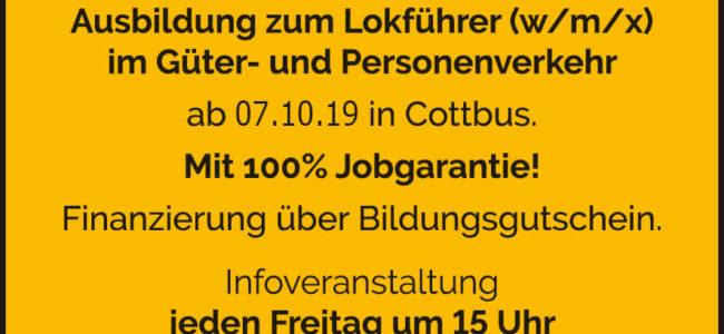 Ausbildung zum Lokführer (m/w/x)