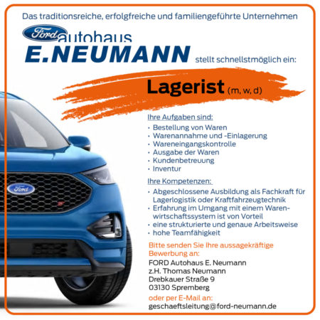 Ford Autohaus E. Neumann - Lagerist