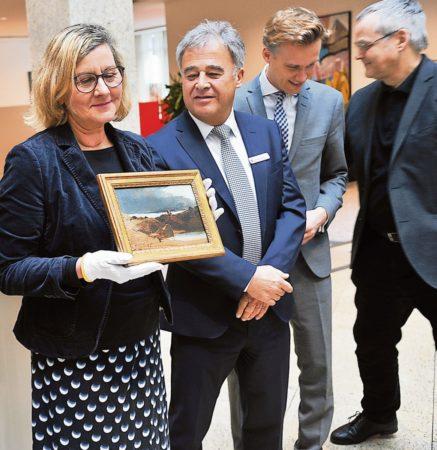 Kostbare Blechen-Skizze zurück in Cottbus