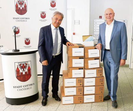 Region: SPN-Sparkasse spendet Schutzmasken