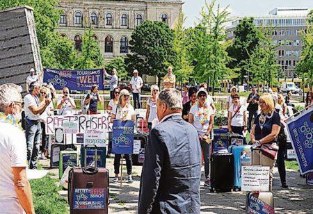 Region: Reisebüros demonstrieren