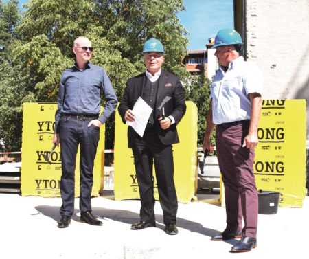 Cottbus: Wieder ein GWC-Grundstein - diesmal in der Calauer Straße