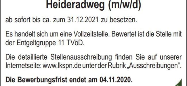 Landkreis Spree-Neiße: Projekt-/Nachhaltigkeitsmanager Heideradweg (m/w/d)