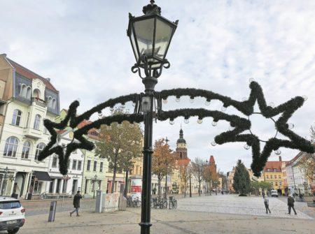 Altmarkt Cottbus in vorweihnachtlichem Glanz