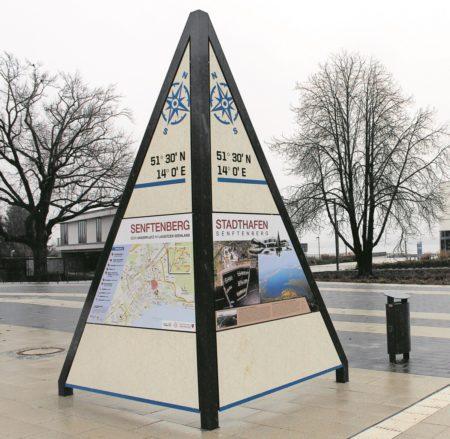 Historische Infos am Senftenberger Hafen