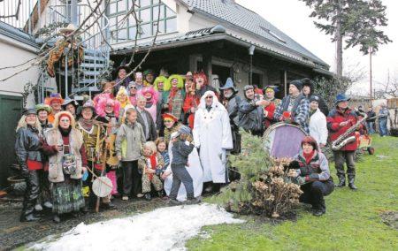 Traditionelles Zampern in Ströbitz