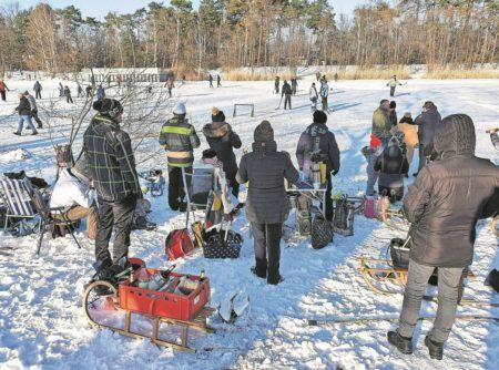 Eishockey am Ströbitzer Badesee