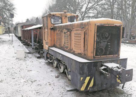 Die Cottbuser Unfall-Lok steht heute in Straupitz