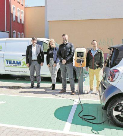 Neue Ladestationen für Elektroautos in Forst