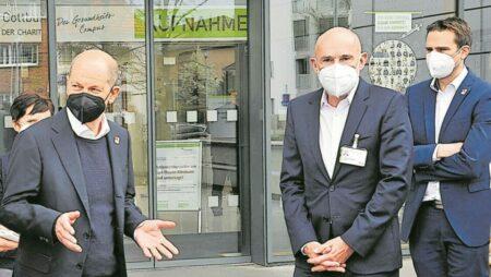 Wahlkampfauftakt im Cottbuser Carl-Thiem-Klinikum